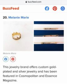 Melanie Marie featured on BuzzFeed June 2020