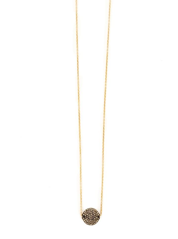 pave diamond coin deli necklace