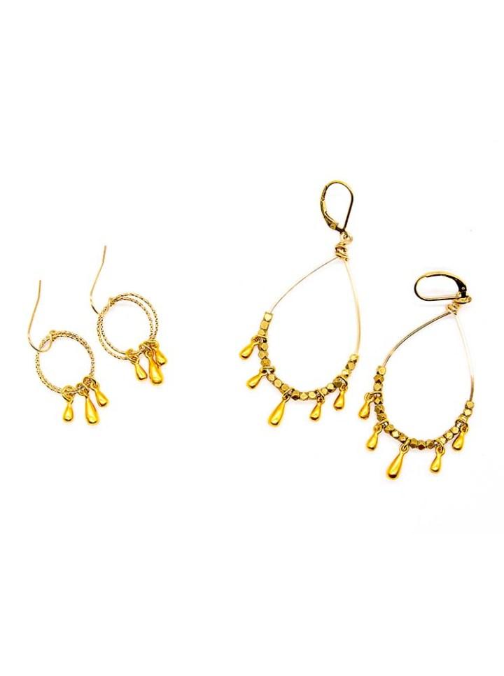 signature teardrop hoop earrings