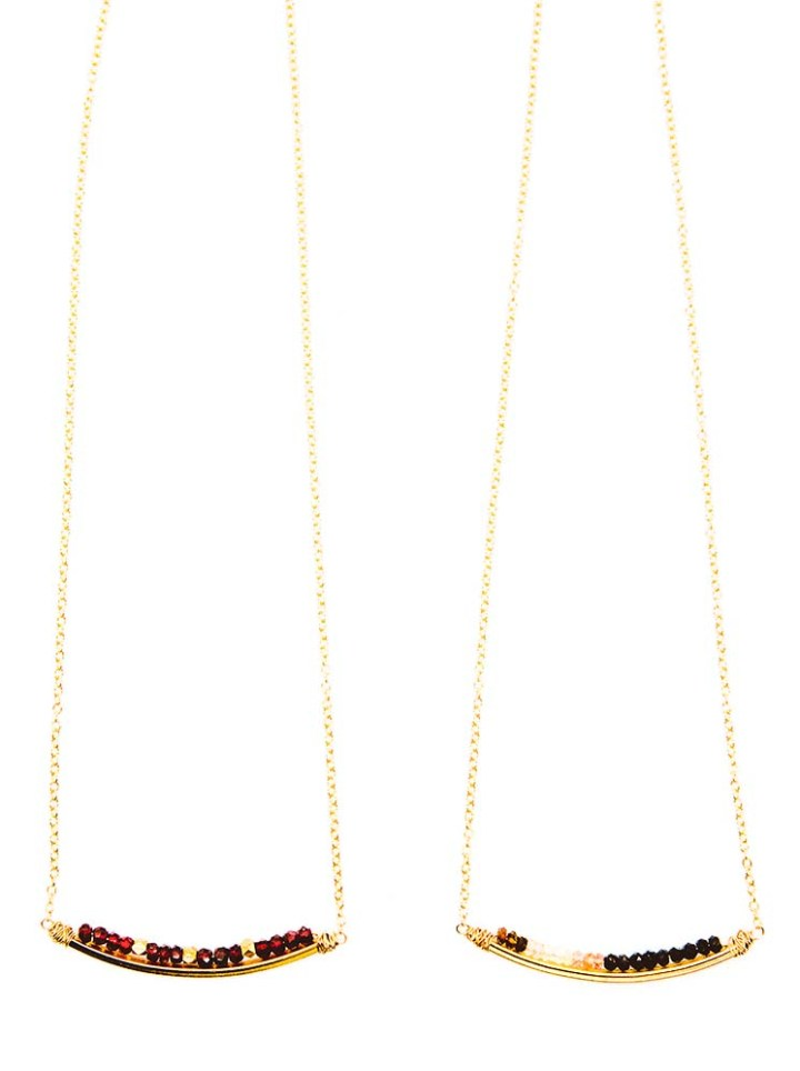 garnet watermelon tourmaline rondelle u necklace