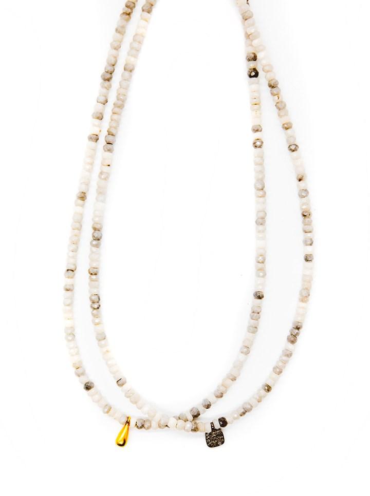 Silverite Strung Rondelle Necklaces
