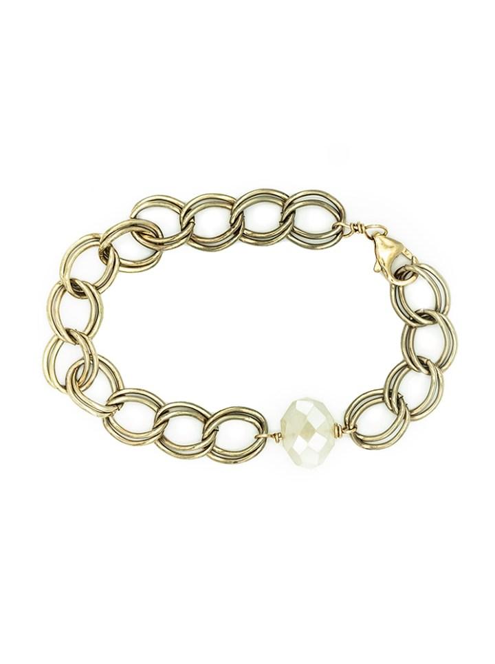 pearl chalcedony antique bracelet