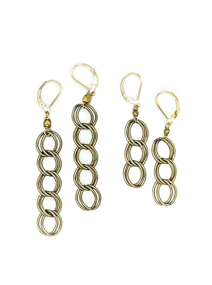 antique linear earrings