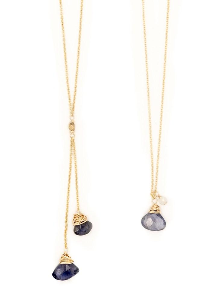 iolite fan delicate necklaces
