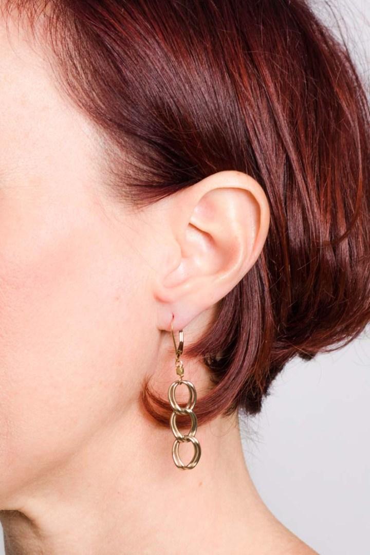 antique small linear earrings