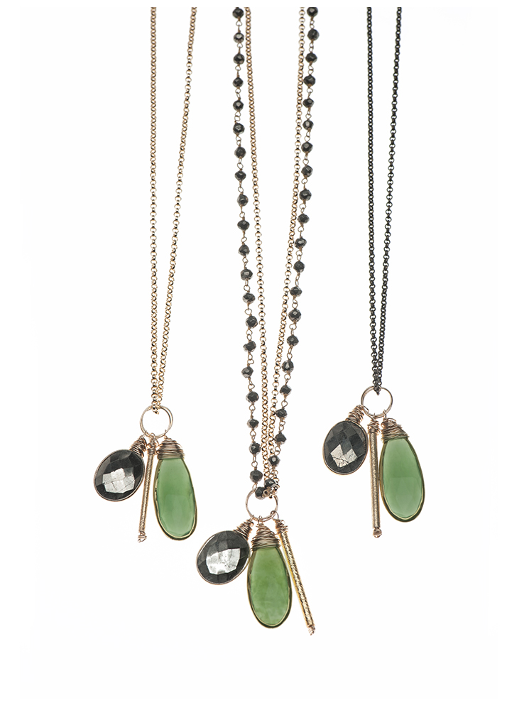serpentine charm necklaces