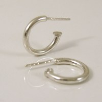 Small but mighty sterling silver hoop earrings