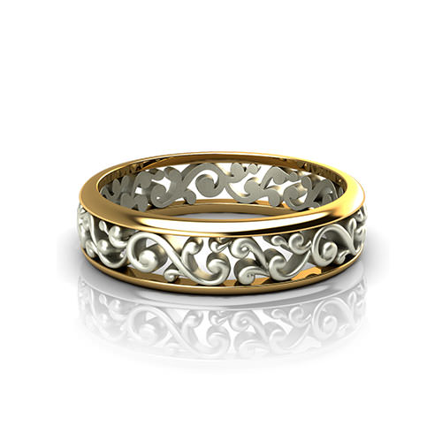 Scroll Pattern Wedding Ring  Jewelry Designs