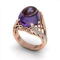 Rose Gold Amethyst Ring | Jewelry Designs