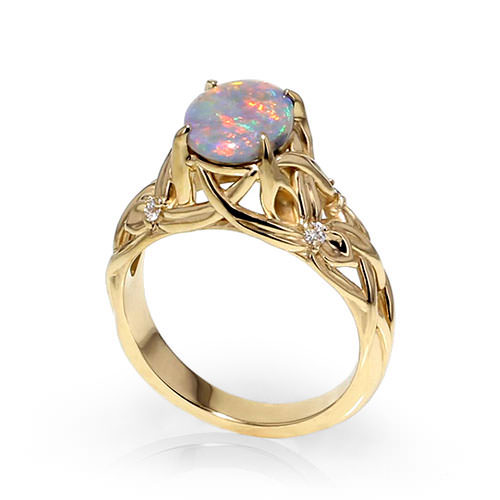 opal floral ring jewelry