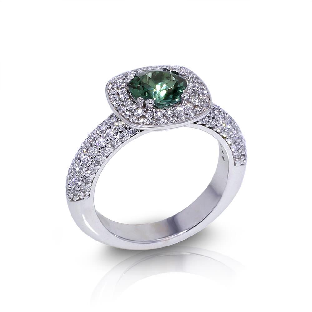 Green Tourmaline Diamond Ring Jewelry Designs