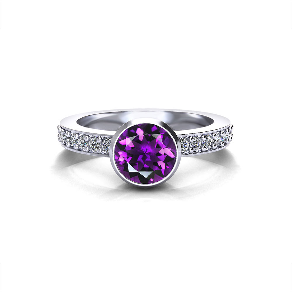 Amethyst Filigree Ring Jewelry Designs