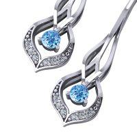 Interwoven Aquamarine Dangle Earrings - Jewelry Designs