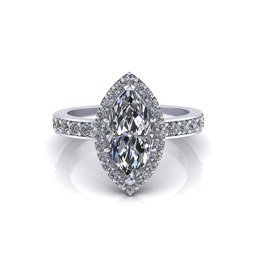 Halo Marquise Engagement Ring  Jewelry Designs