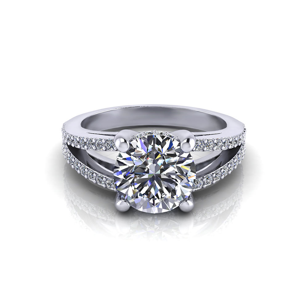 Split Engagement Ring Jewelry Designs