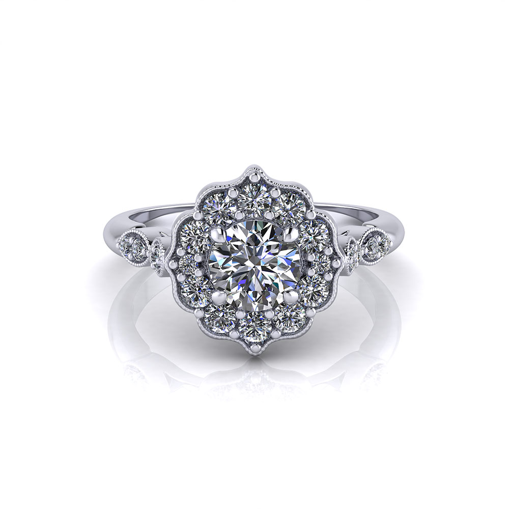 Halo Wedding Ring Sets