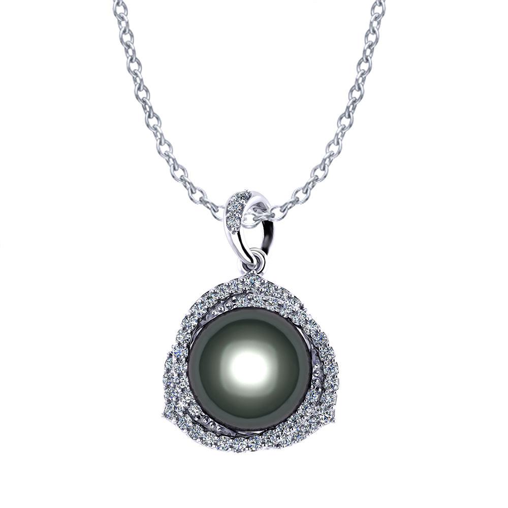 Trinity Tahitian Pearl Necklace  Jewelry Designs