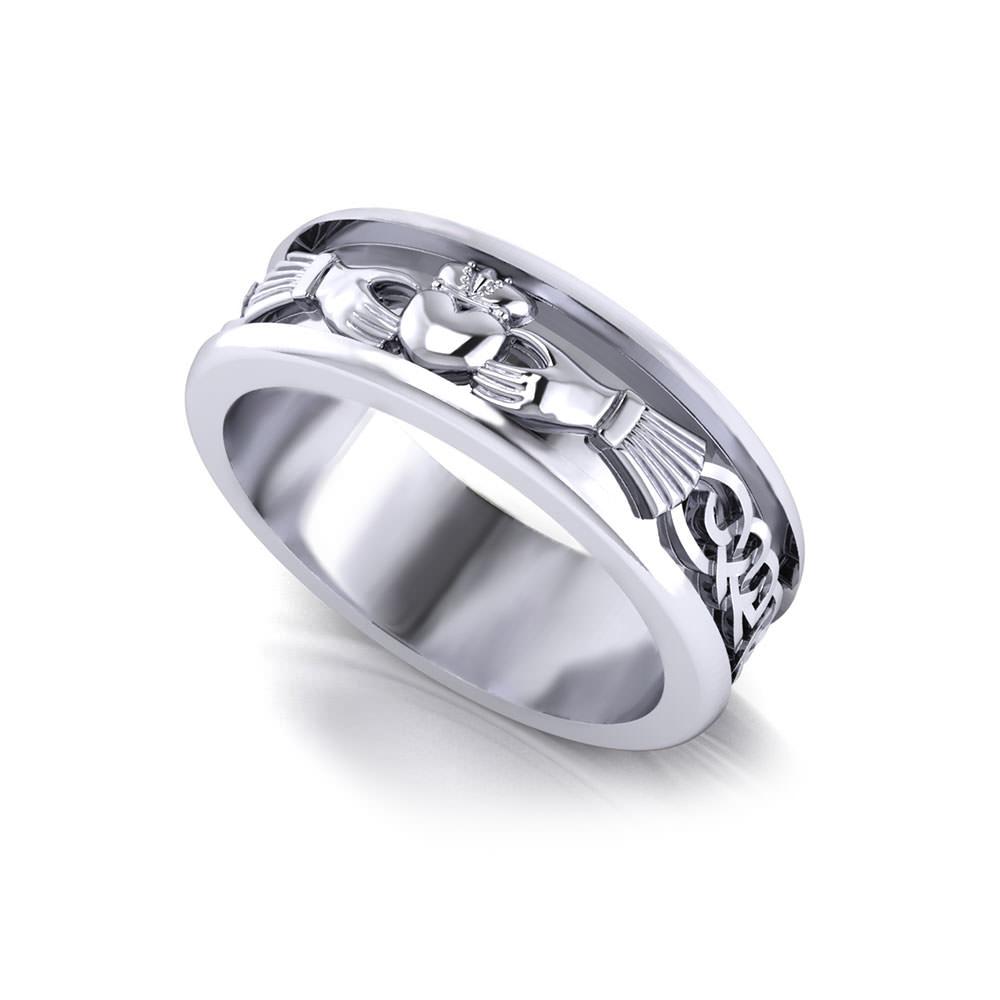 Mens Claddagh Wedding Ring