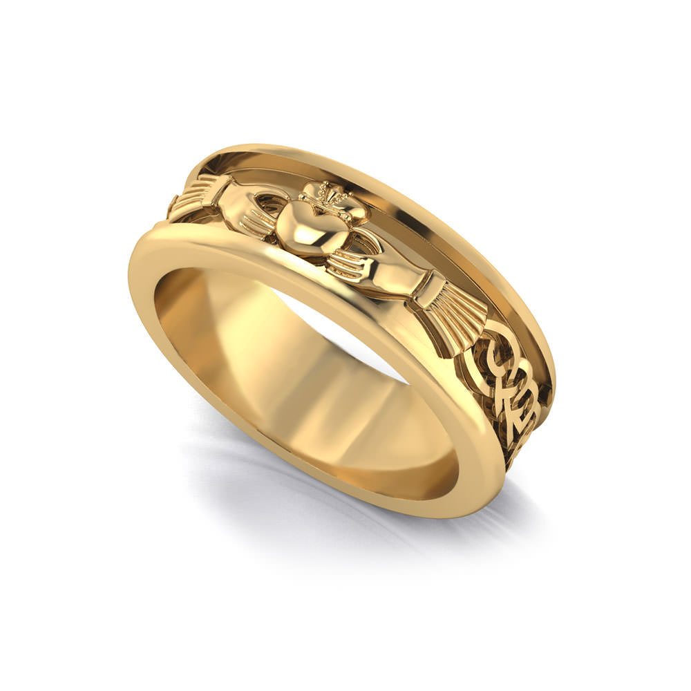 Mens Claddagh Wedding Ring Jewelry Designs