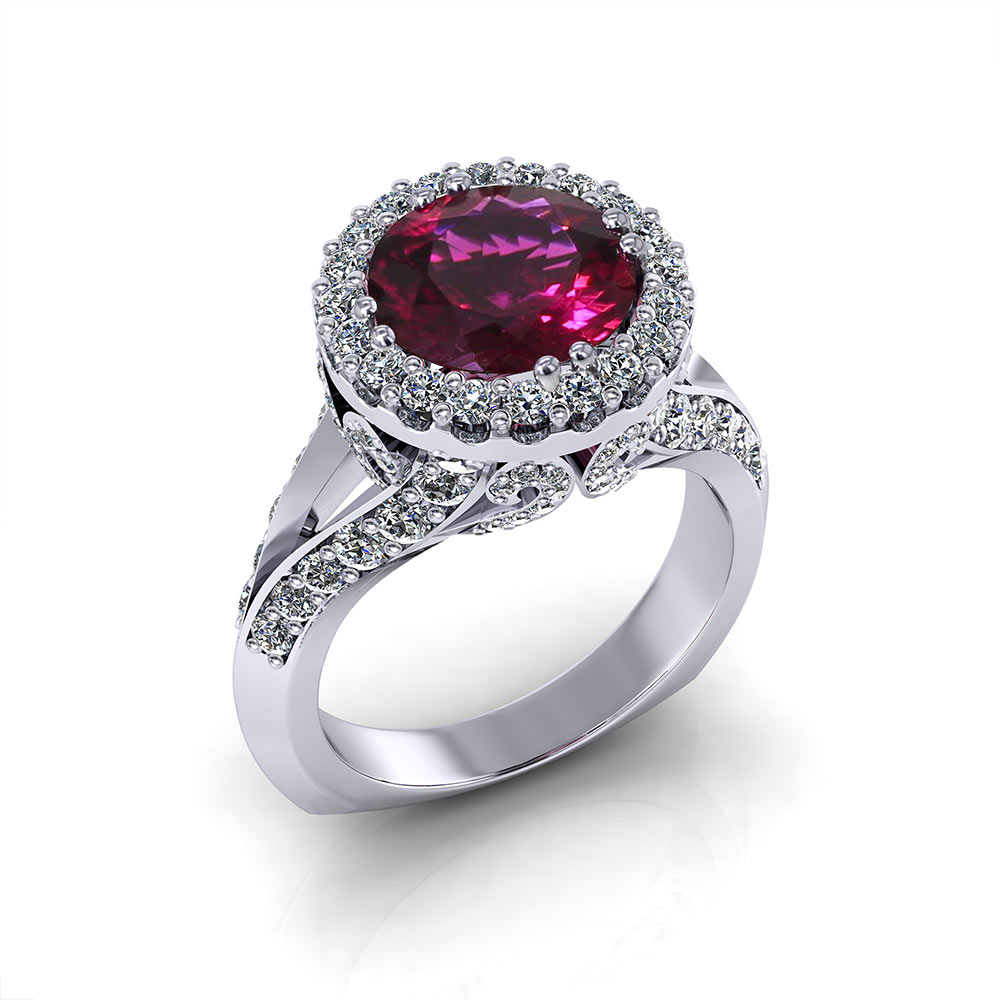 Rubellite Tourmaline Ring Jewelry Designs