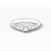 Floral Promise Ring | Jewelry Designs