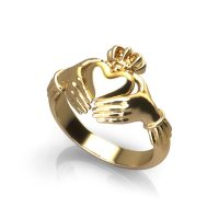 Gold Claddagh Ring - Jewelry Designs