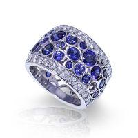 Bubble Sapphire Band - Jewelry Designs