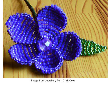 Victorian beaded flower tutorial from Jewellery from Craft Cove
