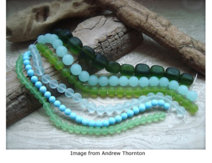 sea glass beads from Auntie's Beads