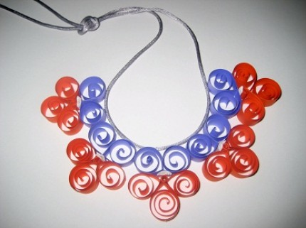 paper flower garland necklace by mlmxoxo
