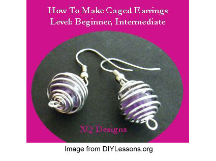 DIYLessons.org caged earrings