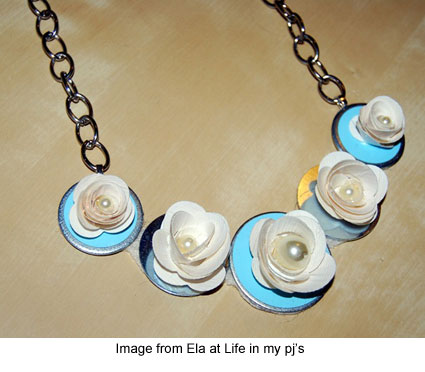 rolled petal dark on glow ductinamyte tape by in the necklace duct art