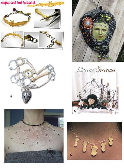 Halloween inspired jewelry