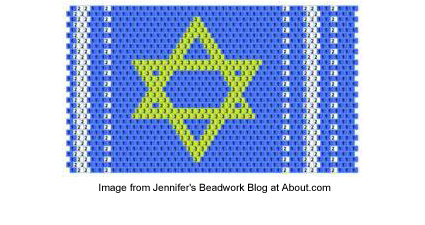 Star of David cuff bracelet pattern from Jennifer VanBenschoten
