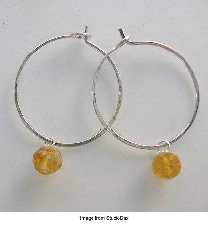 wire hoop earrings from StudioDax