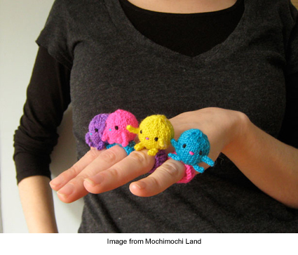 plush rings from Mochimochi Land