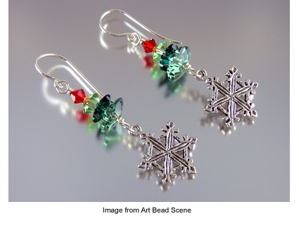 Lori Anderson's snow on cedars earrings