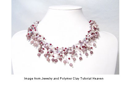Crystal Feathers necklace