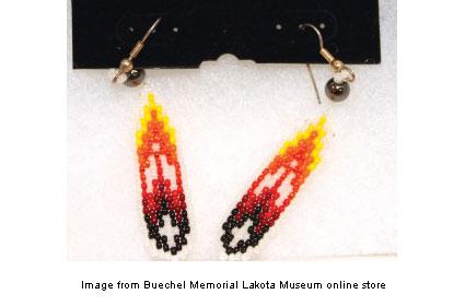 handcrafted Lakota earrings