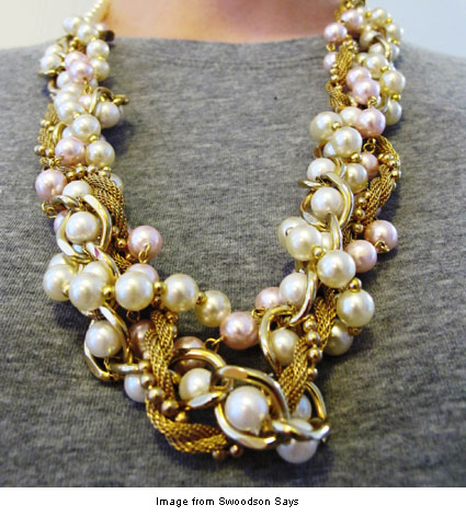 upcycled necklace from Swoodson Says