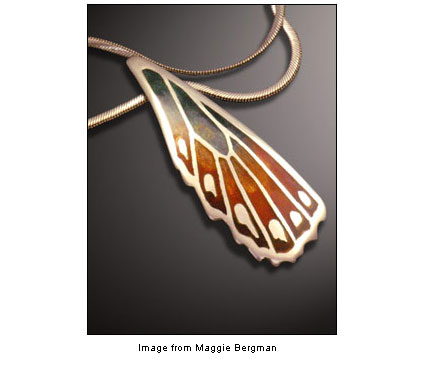 butterfly wing pendant from Maggie Bergman