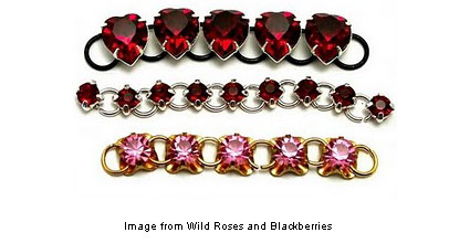 Rhinestone chains from Wild Roses and Blackberries