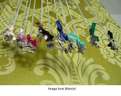 charming pendants from Bibelot