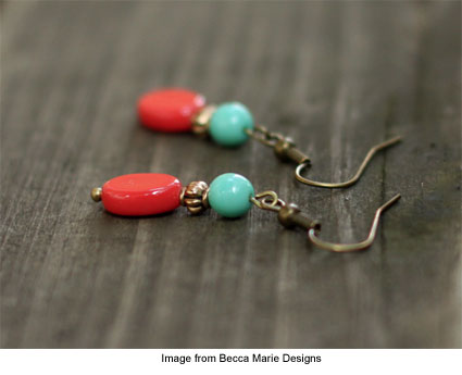 earring giveaway from Becca Marie Designs