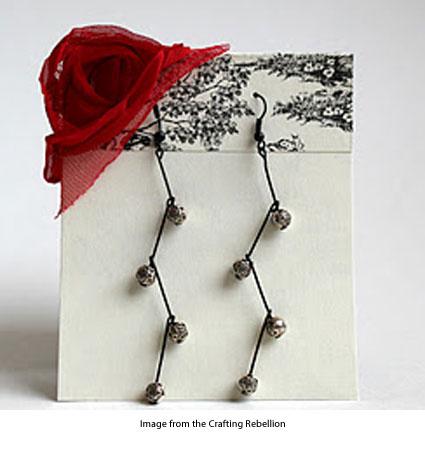branching dangle earrings
