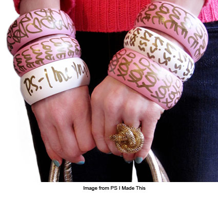 bangles with quotes from PS I Made This