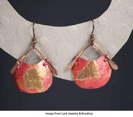 Stitched Keum Boo Earrings from Mary Hettmasperger