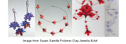 Polymer clay jewelry from Susan Samitz