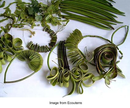 green jewelry from Ceca Georgieva via Ecouterre