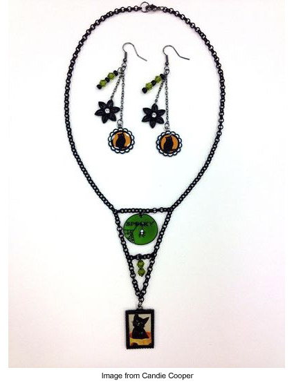 Halloween-themed jewelry from Candie Cooper